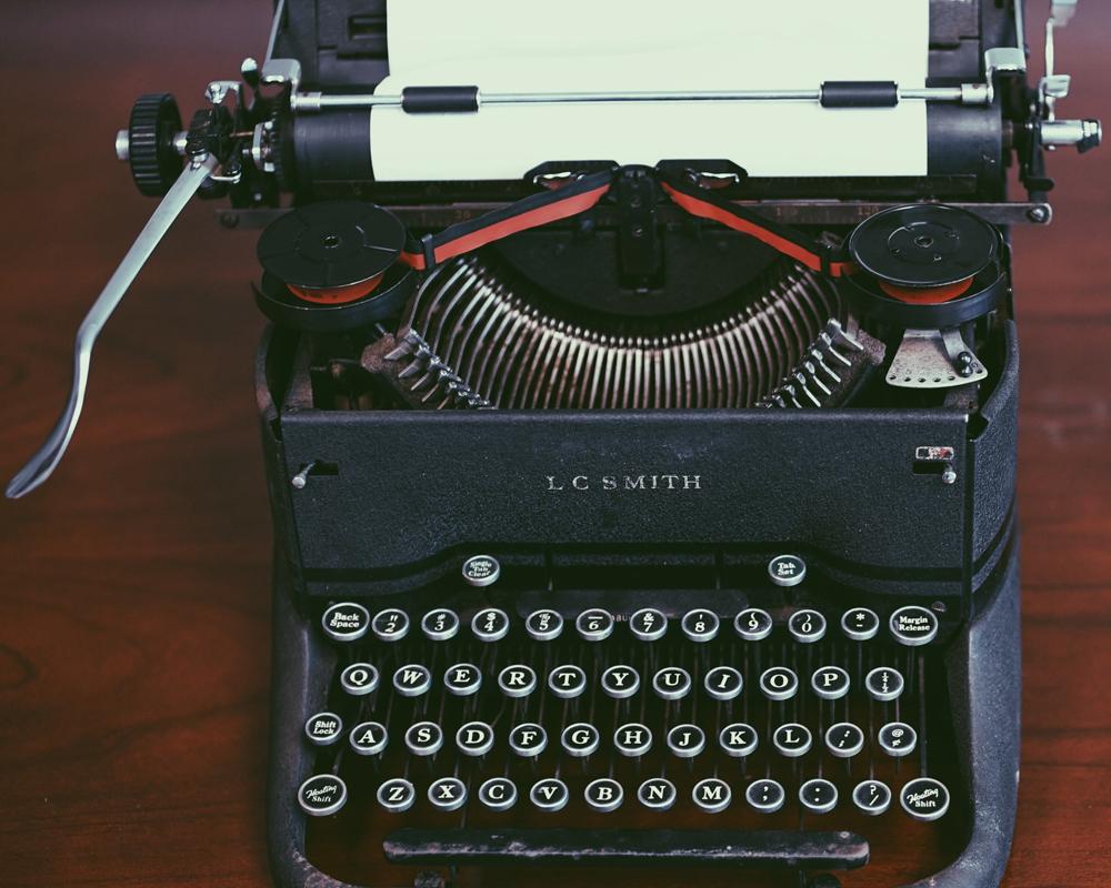 Kirjoituskone.